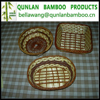 High Quality Bamboo Woven Baskets for Sale
