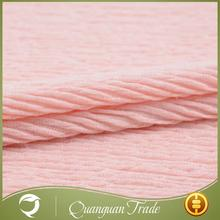 Custom made high quality soft garment knitted pile fabric