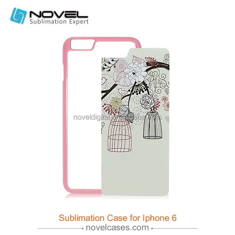 2d sublimation phone case for iPhone6,sublimation cover