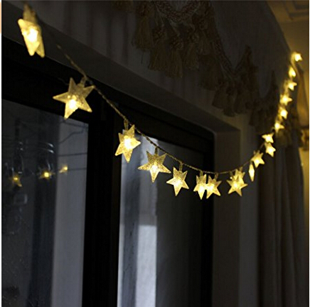 LED Cool White Star Light Fairy String Light for Christmas XMAX Weddings Family Festival School Party