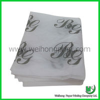 fancy black logo print white wrapping tissue paper wholesale