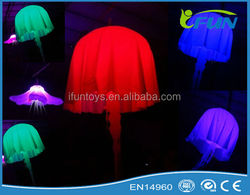 colorful led jellyfish decorations with color changing/hanging decoration inflatable led jellyfish