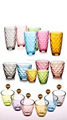 hot sale the most popular color water glass set