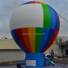 Hot sale rainbow inflatable ground balloon, giant advertising inflatable cold air balloon with your own logo K2101