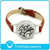 Fashion Diffuser Bracelet Leather Bangle Stainless