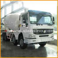 Manual Diesel Howo 8X4 large capacity concrete mixer truck for sale