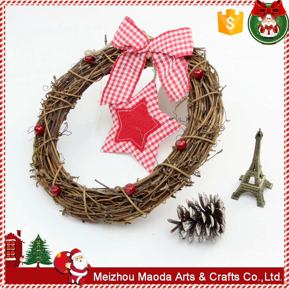 Western style custom handmade round shape christmas decorations for home