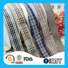 High Quality Mix Color 1 inch Checked Ribbon