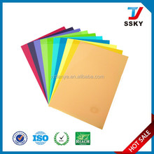 Plastic pvc sheet rigid book cover for school stationery packing