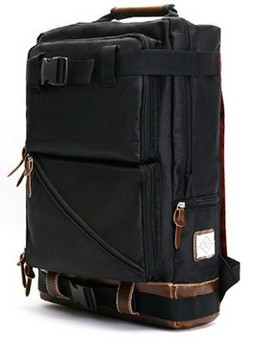 Corean style shoulder backpack for school in black