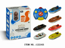 122163 mini RC toy boat , battery operated boat, cartoon toy finger boat