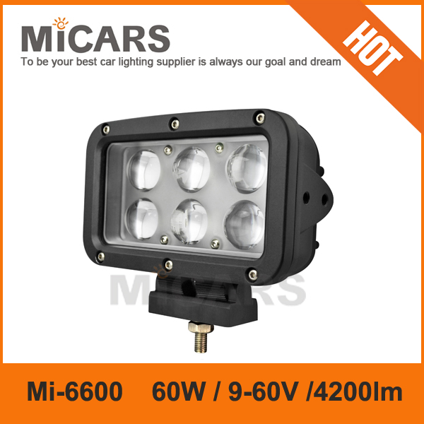 7 inch 60w 4200lm LED work light SUV ATV 4x4 off road