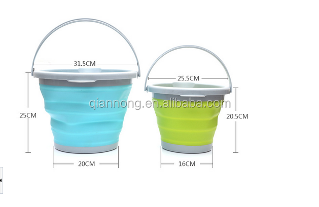 silicone collapsible bucket 5L/10L silicone bucket