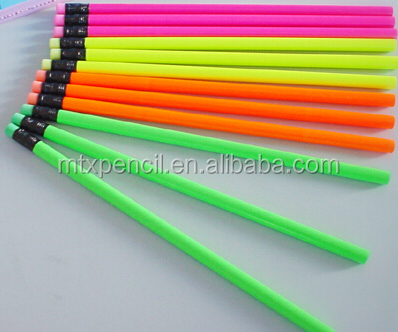 High Quality fluorescence HB Wooden Pencil in bulk
