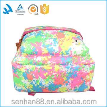 China fashion custom colorful canvas high school sports backpack