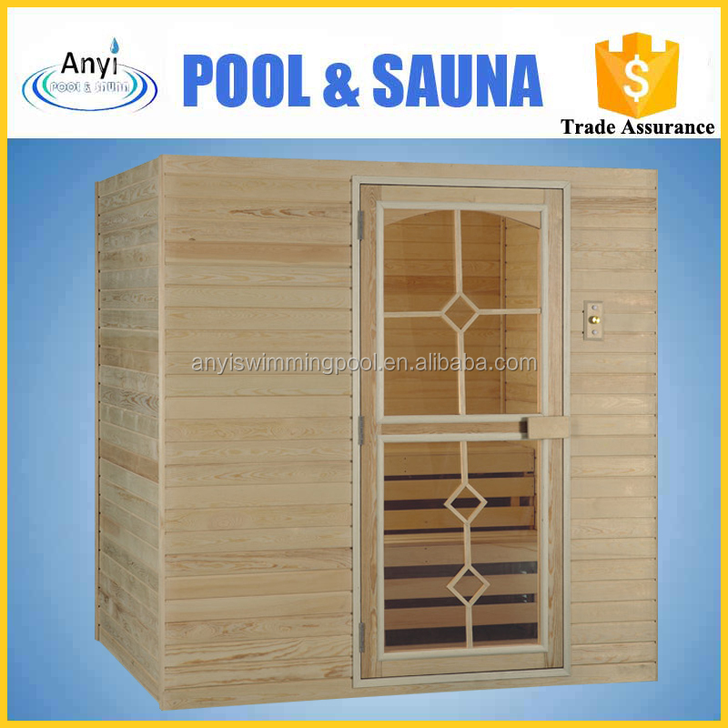 chinese home mongolica wood made steam sauna room