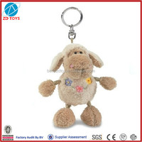 lamb stuffed plush keyring toy
