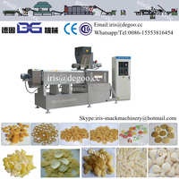 Extruded fried 3d 2d snack pellet production equipment /making machine 300kg/h