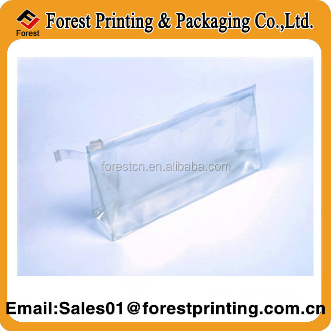 OEM/ODM Accepted free sample transparent pvc clutch bag with handle for packing