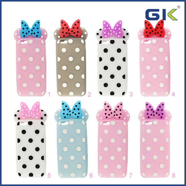 [GGIT] 2016 New Design Silicon Bow- knot Phone Case for iPhone 6 Case