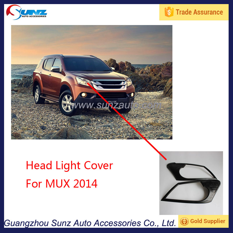Automobiles ABS Matte Black head Light Cover For MUX 2014 Exterior Accessories