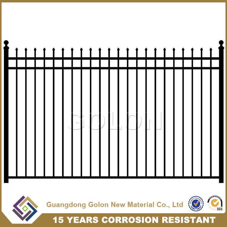 2016 good quality colors house gate designs Wrought iron fence, Zinc steel fence