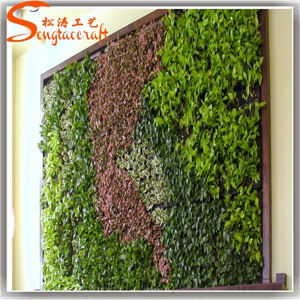 Planta artificial pl stico paredes muro verde jard n for Plastico para estanques artificiales