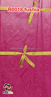 printed cotton fabric fashion african bazin embroidery design guinea brocade B0018 fushia