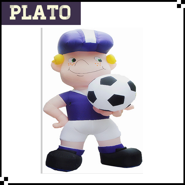Attractive Giant Inflatable Football Player Cartoon/Inflatable Model For Advertising