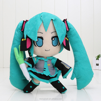 anime Hatsune Miku VOCALOID series 24CM snow Hatsune Miku Plush Stuffed Toy Soft Dolls children gift