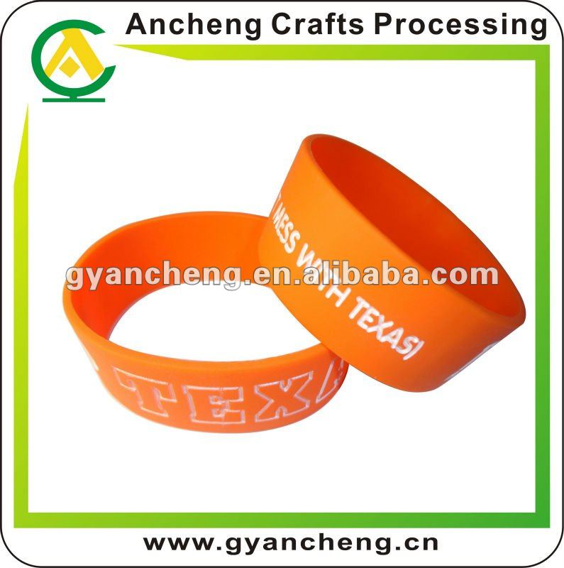 Customized i love texas one inch silicone bracelets fashion design