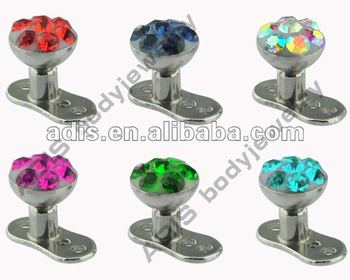 Fancy Titanium G23 Dermal Anchor Body Jewelry
