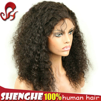 High Quality virgin afro kinky human hair wig brazilian hair machine made wig caps for making wigs