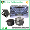 Solar powered stainless steel axial type 14'' aluminum fan blade air guard exhaust fan factory ventilation fan