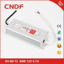 China supplier waterproof SV- 80-12 80w 12 volt constant Voltage led driver power supply IP67