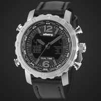 INFANTRY Dark Knight Mens Multifunction Sport Analogue-Digital Display Chronograph Wrist Watch