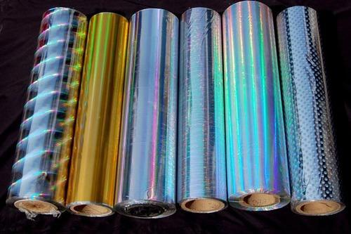 Holographic laminated film/foil for paper/plastic