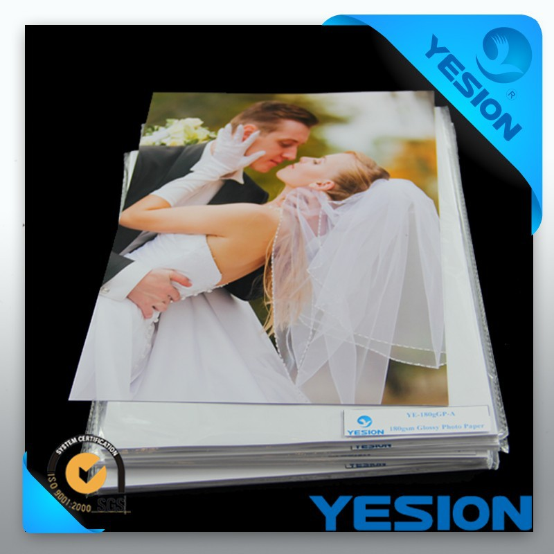 2015 china manufacturer high quality a4 oem inkjet double side glossy photo paper