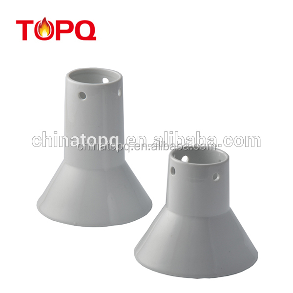 TOPQ Ceramic chicken sitter /barbecu cooking chicken and turkey