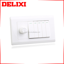 DELIXI 250V BS Green and eco-friendly dimmer 5 gang light switch
