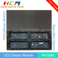 Shenzhen Manufacturer P6 SMD Indoor Full Color LED Module 96*192mm 32*16 Pixels 1/8 Scan RGB Full