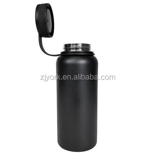 32 oz hydro flask insulated stainless steel beer growler with BLACK powder coating WB1069