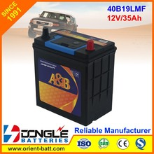 Korean Quality 12v 35ah 40b19l car battery