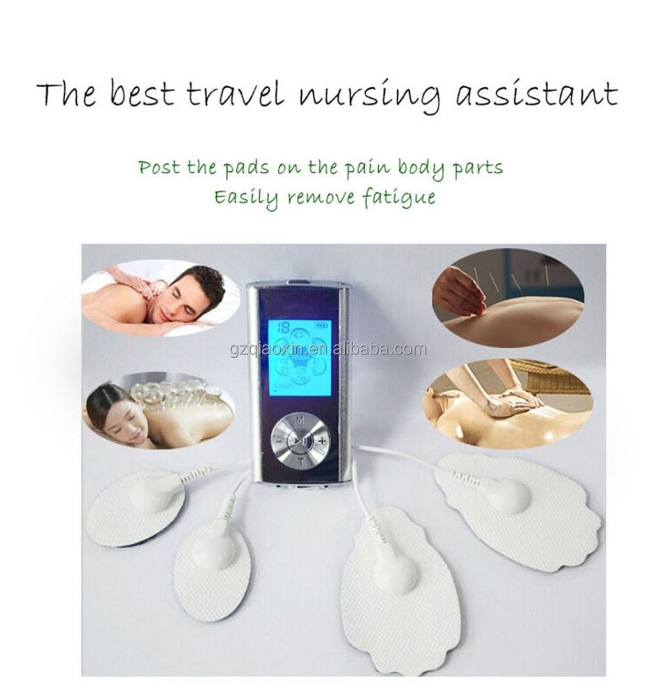 2016 mini body massager TENS Unit small size with rechargeable battery USB connector
