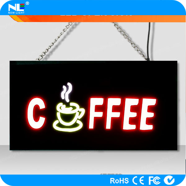 led resin board/ open sign board for use coffee and bar shop