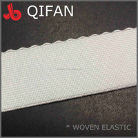 28mm WHITE WOVEN SPANDEX ELASTIC BAND for UNDERWEAR