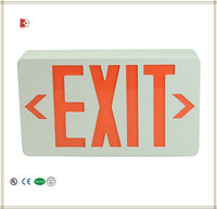 UL Standard LED Exit Sign with Red Letters battery back up led emergency light