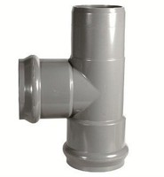 pvc pressure fittings with gasket tee F/F/S