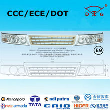 ECE E9 bus front grille and toyota coaster head lights