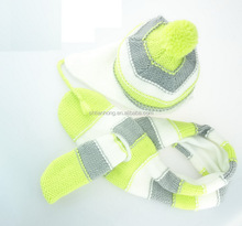 Good quality competitive price kids fleece knit hat scarf gloves set